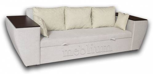 Софа Цезарь накладки ДСП-42 Вариант 10: весь диван - Делайт 02, подушки - Букле 016