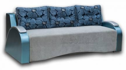 Софа Венеция-44 Вариант 4:основа -Респект, координат - Жемчуг, подушки - Мурано