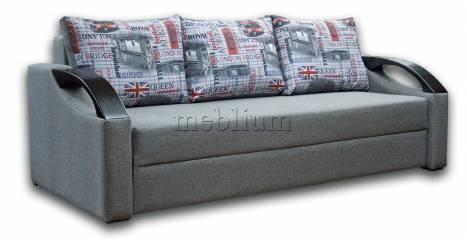 Софа Барон 160-90 Вариант 1: весь диван - Серый, подушки - Лондон