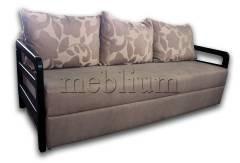 Диван Прадо-90 Вариант обивки: весь диван -бежевый, подушки - цветы