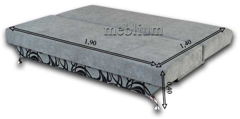 Диван Meblium 30-3 лео Диван Meblium 30-3 в розкладеному вигляді: