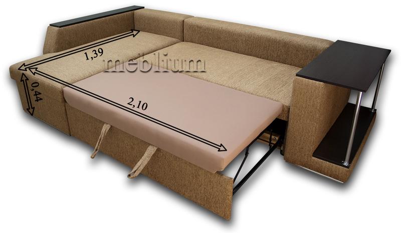 Кутовий диван Лос-Анджелес New-10 В розкладеному вигляді