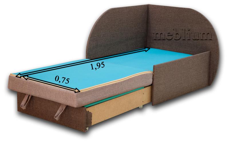Дитячий диван Meblium 183-1 астра Диван дитячий Meblium 183-1 в розкладеному вигляді: