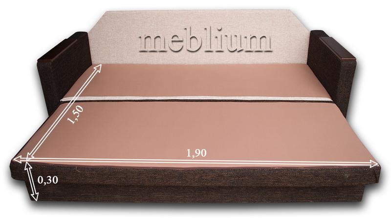 Диван Meblium 27-3 анабель кор Диван Meblium 27-3  в розложенном состоянии: