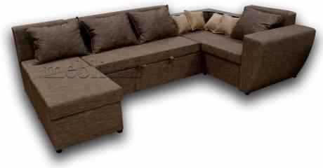 Угловой диван Цезарь-42 Вариант обивки: Весь диван - Лючия 029