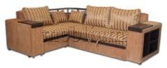 Кутовий диван Монреаль з баром -10 Полоса Варіант обивки: полоса