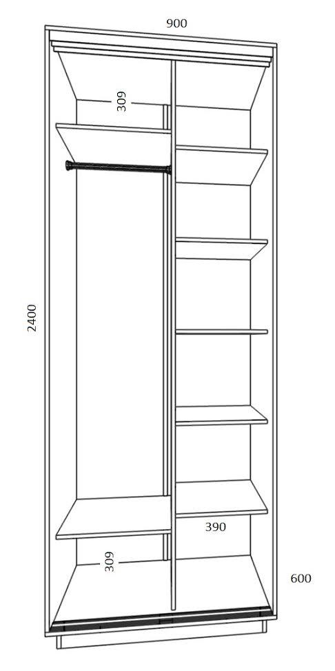 Шкаф-купе ширина 900 -92