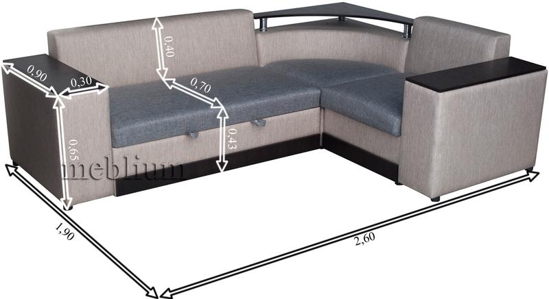 Кутовий диван Вашингтон New-10 Габаритні розміри