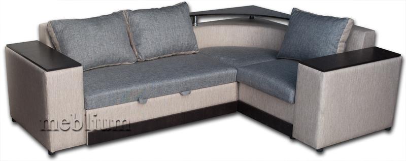 Кутовий диван Вашингтон New-10 Варіант 8: основа - Лугано грей, координат - Лугано бейдж