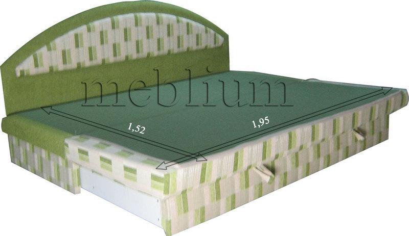 Диван Meblium 138-1люкс лада Диван Візит люкс у розкладеному стані: