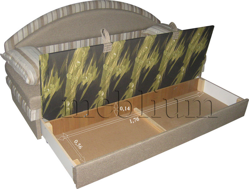 Диван Meblium 138-1люкс лада   Розміри ніши для білизни: