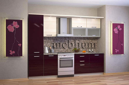 Кухня meblium 42-72 .  Дсп swisspan, kronospan - от 3000гр. за 1м.п. Смотрите, в каком исполнении заказывают у нас кухню meblium 42-72: