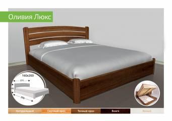Деревянная кровать с подъемником Оливия Люкс-91