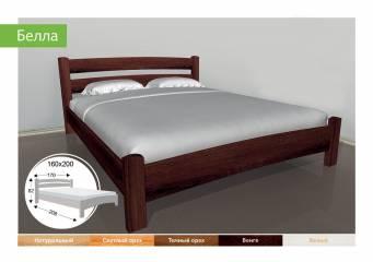 Деревяне ліжко Белла-91
