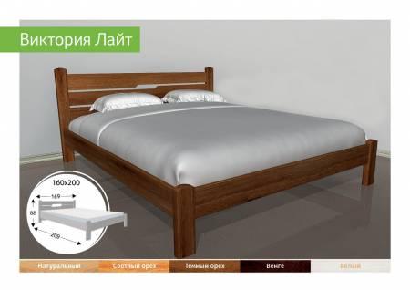 Деревяне ліжко Виктория Лайт-91