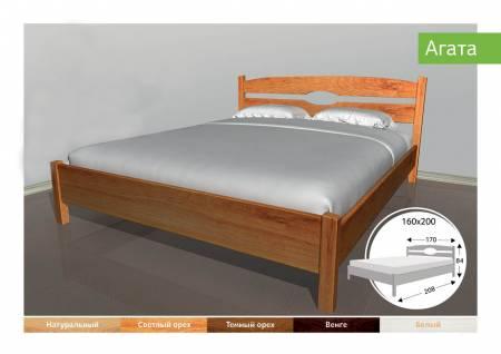 Деревяне ліжко Агата-91