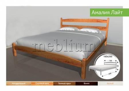 Деревяне ліжко Амалія Лайт-91