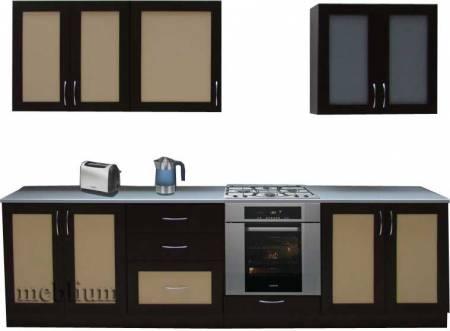 Кухня meblium 25-72. Фасад мдф пленка с рамкой - от 4300 за 1 м.п.