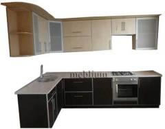 Кухня meblium 83-72 . Дсп swisspan, kronospan з алюмінівою рамкою:  - від 3300 гр. за 1м.п.