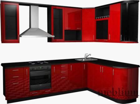 кухня meblium 15-72. Фасад пластик - от 5500 грн. за 1 м.п.