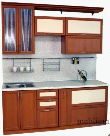 Кухня meblium 54-72. Фасад мдф пленка с рамкой - от 4300 за 1 м.п.