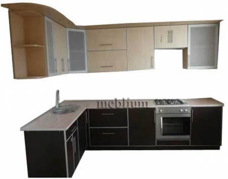 Кухня meblium 83-72 . Дсп swisspan, kronospan с алюминевой рамкой- от 3300 гр. за 1м.п.