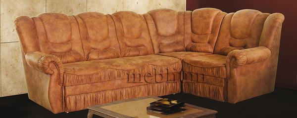 Угловой диван Мадрид -71 Угловой диван Мадрид-71 Альфа коричневая