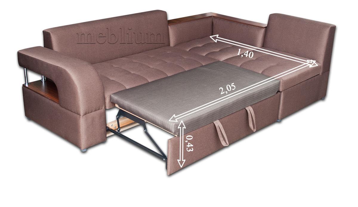 Кутовий диван Голлівуд-76 Нео Аш в розкладеному вигляді: