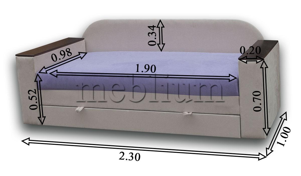 Софа Адель-89 Габаритні розміри дивана