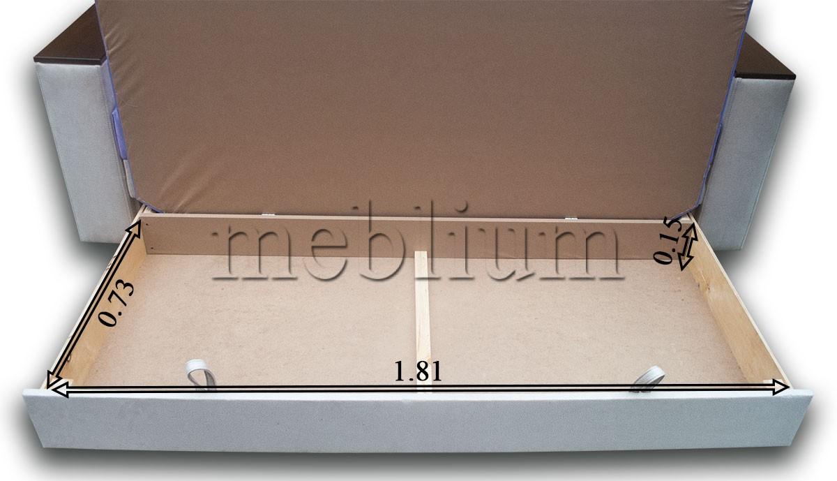 Софа Адель-89 Розміри ніши для білизни