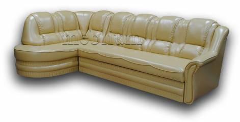 Угловой диван Барон 1А вариант Б-6 ТАКЖЕ ЭТУ МОДЕЛЬ ЗАКАЗЫВАЛИ В ТКАНИ :весь диван - Итака Голд