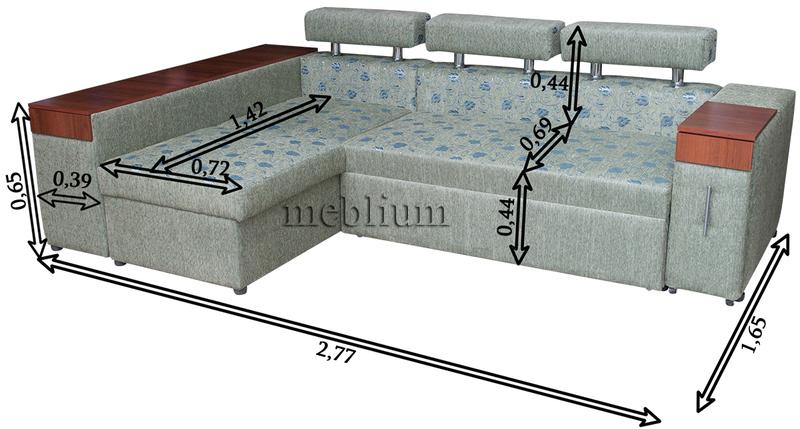 Кутовий диван Чікаго New-10 Габаритні розміри