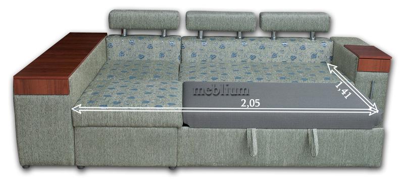 Кутовий диван Чікаго New-10 В розкладеному вигляді