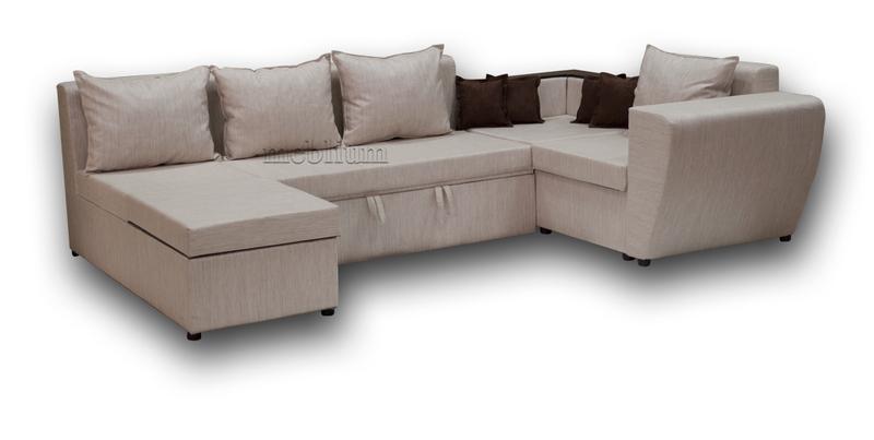 Угловой диван П-образный Цезарь -42 ТАКЖЕ ЭТУ МОДЕЛЬ ЗАКАЗЫВАЛИ В ТКАНИ :: диван - лугано беж.