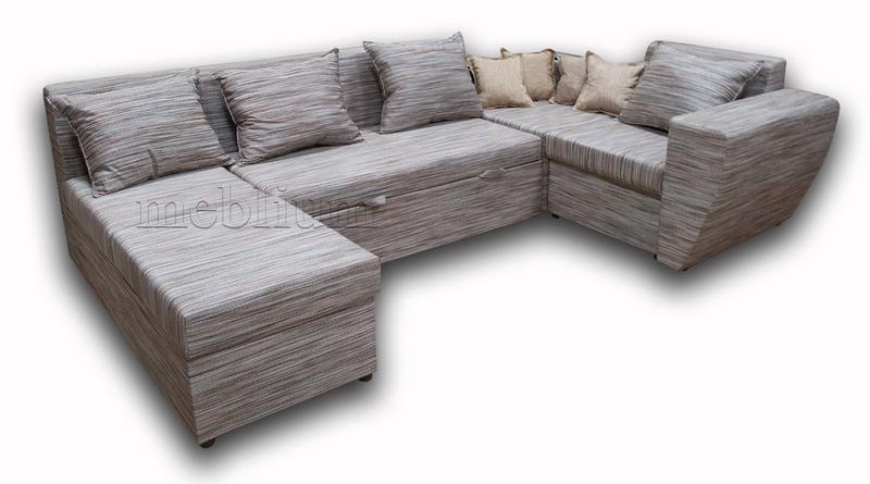 Угловой диван П-образный Цезарь -42 ТАКЖЕ ЭТУ МОДЕЛЬ ЗАКАЗЫВАЛИ В ТКАНИ : Весь диван - Лючия 550