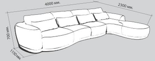 Диван Вероника-8 Схема модели: