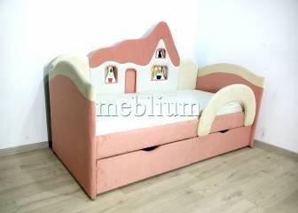 Дитячий диван Домік -41 Тканина: ORANGE