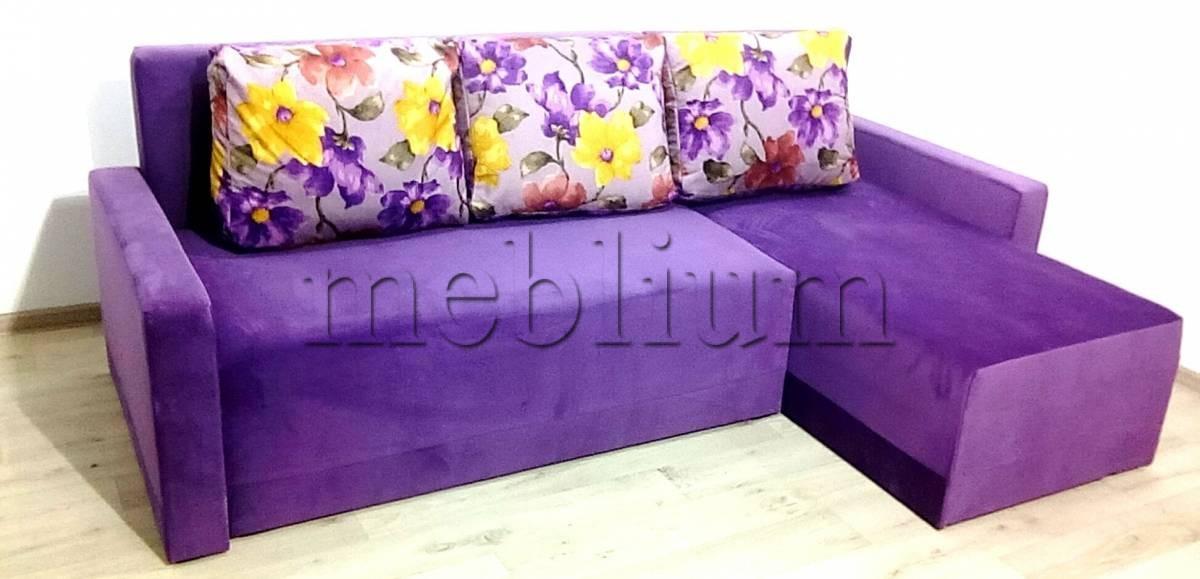 Угловой диван Эко универсал -64 Ткань: LIRA_16_KATANIJA_05_FIOLETOVYJ