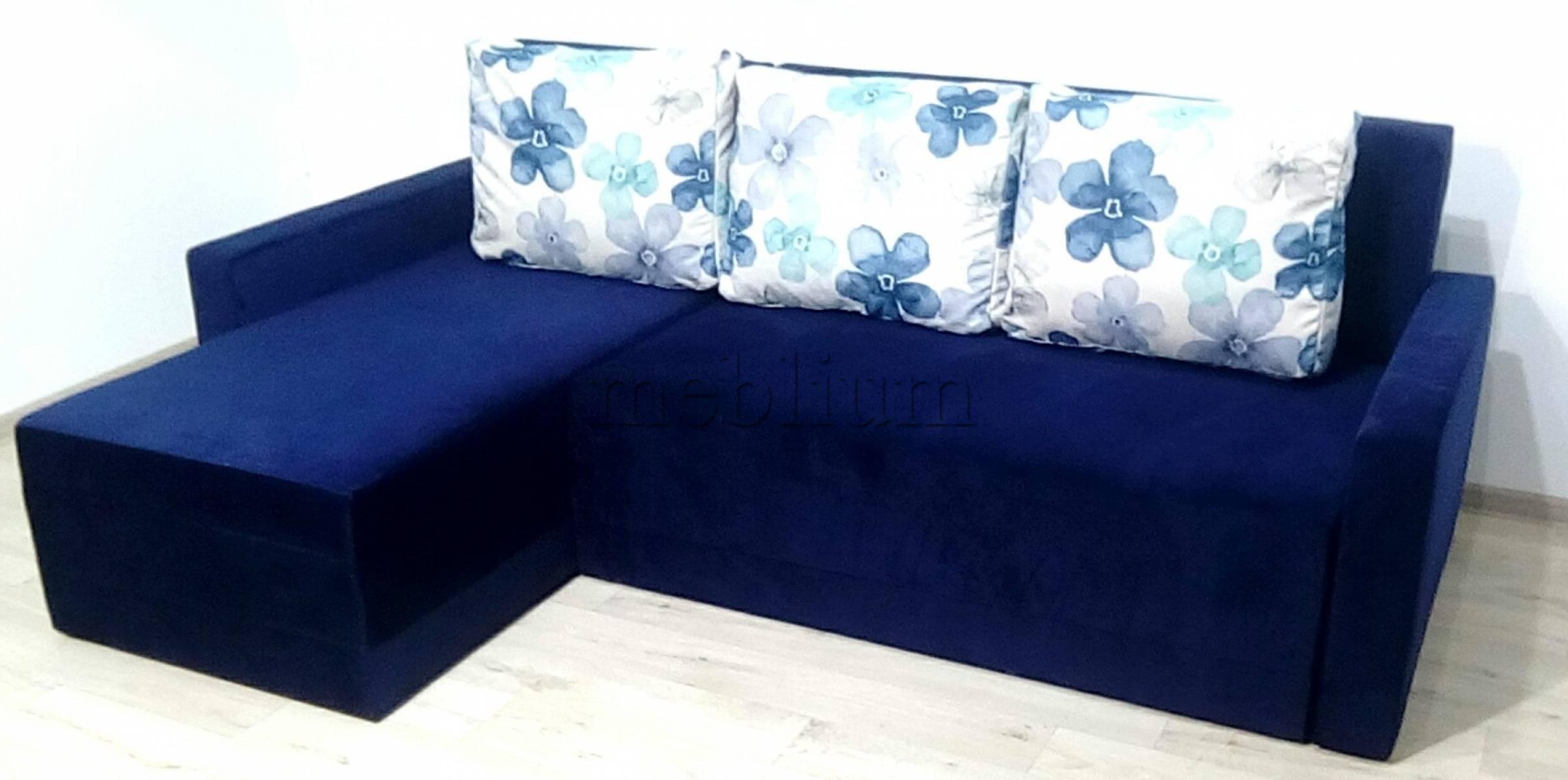 Угловой диван Эко универсал -64 Ткань: Lira_34_Akvarel_08_sinij