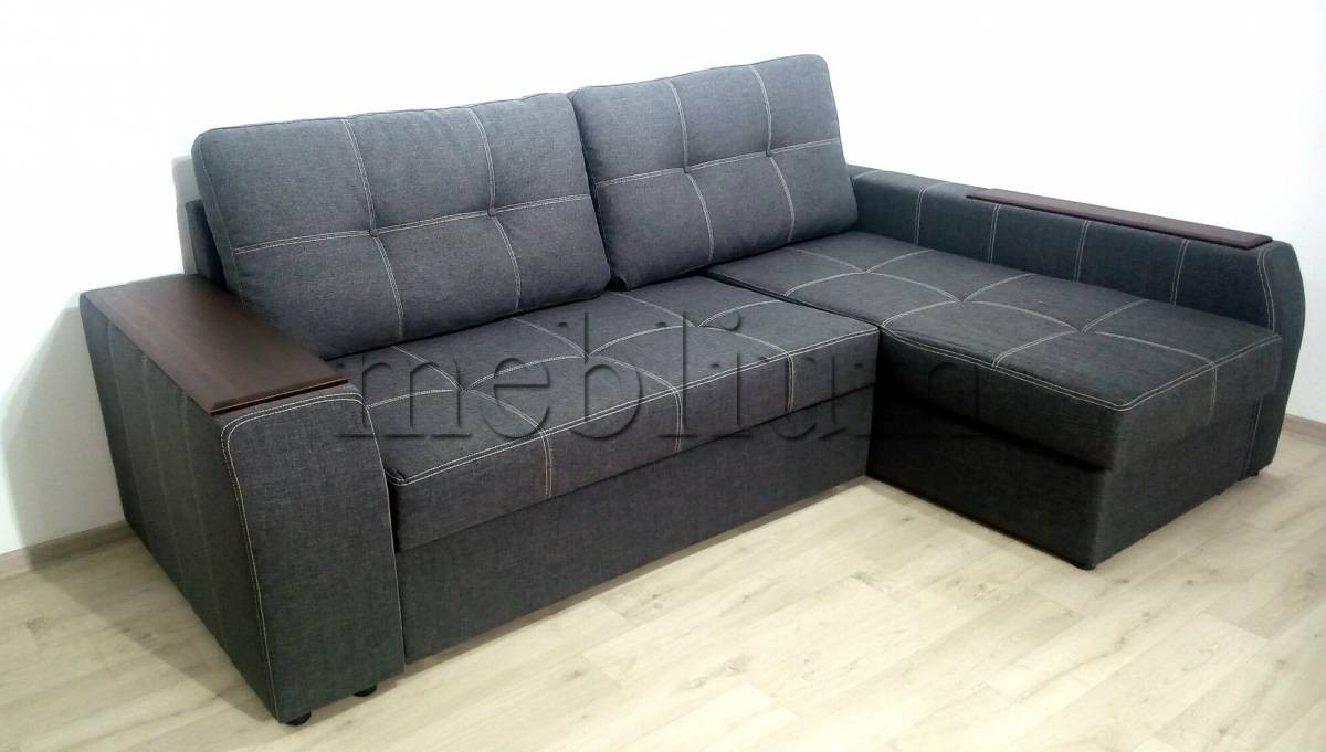 Угловой диван Лорд с открытым боком -3 Lux12_Kor Ткань: Lux_19_sira
