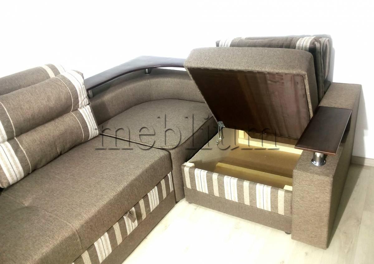 Угловой диван Люкс универсал -3 Ниша для белья