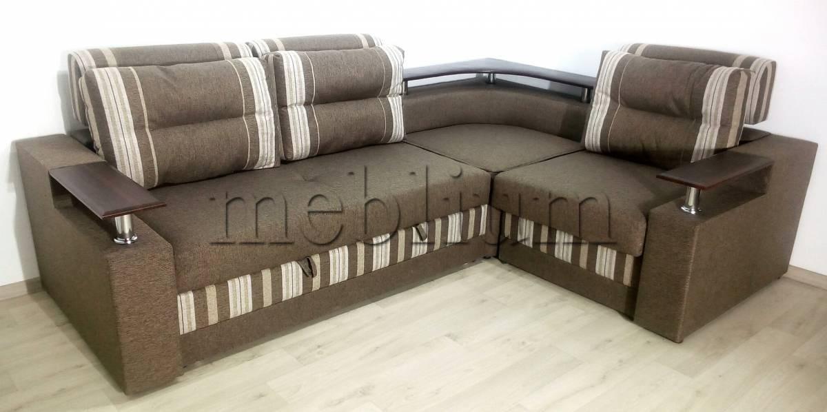 Угловой диван Люкс универсал -3 Ткань: schotlandija_cofe