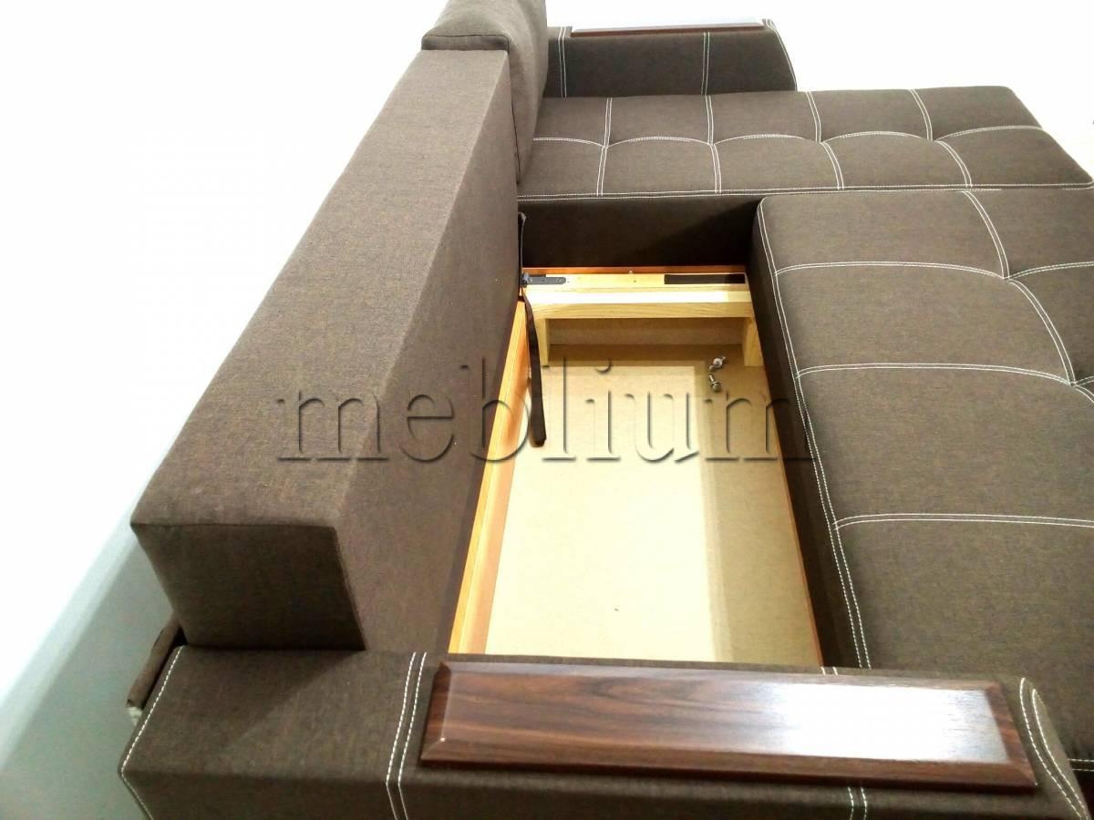 Угловой диван Браво универсал -3 Ниша для белья ближе