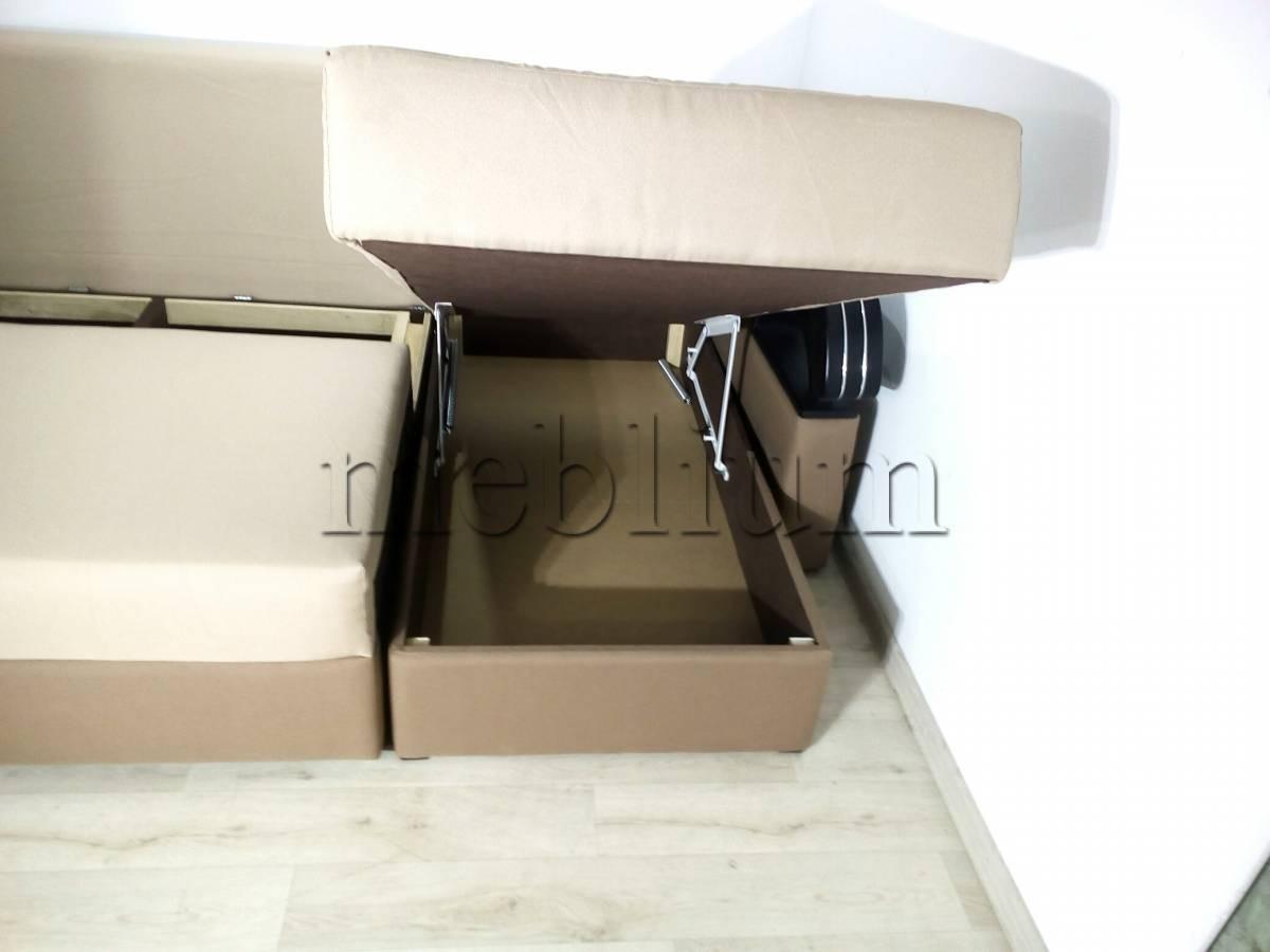 Угловой диван Кардинал -90 Ниша для белья 2