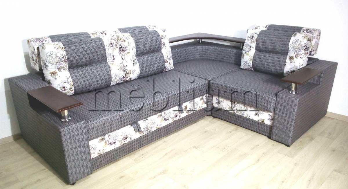 Угловой диван Люкс универсал -3 Ткань: Sira_Kvitka