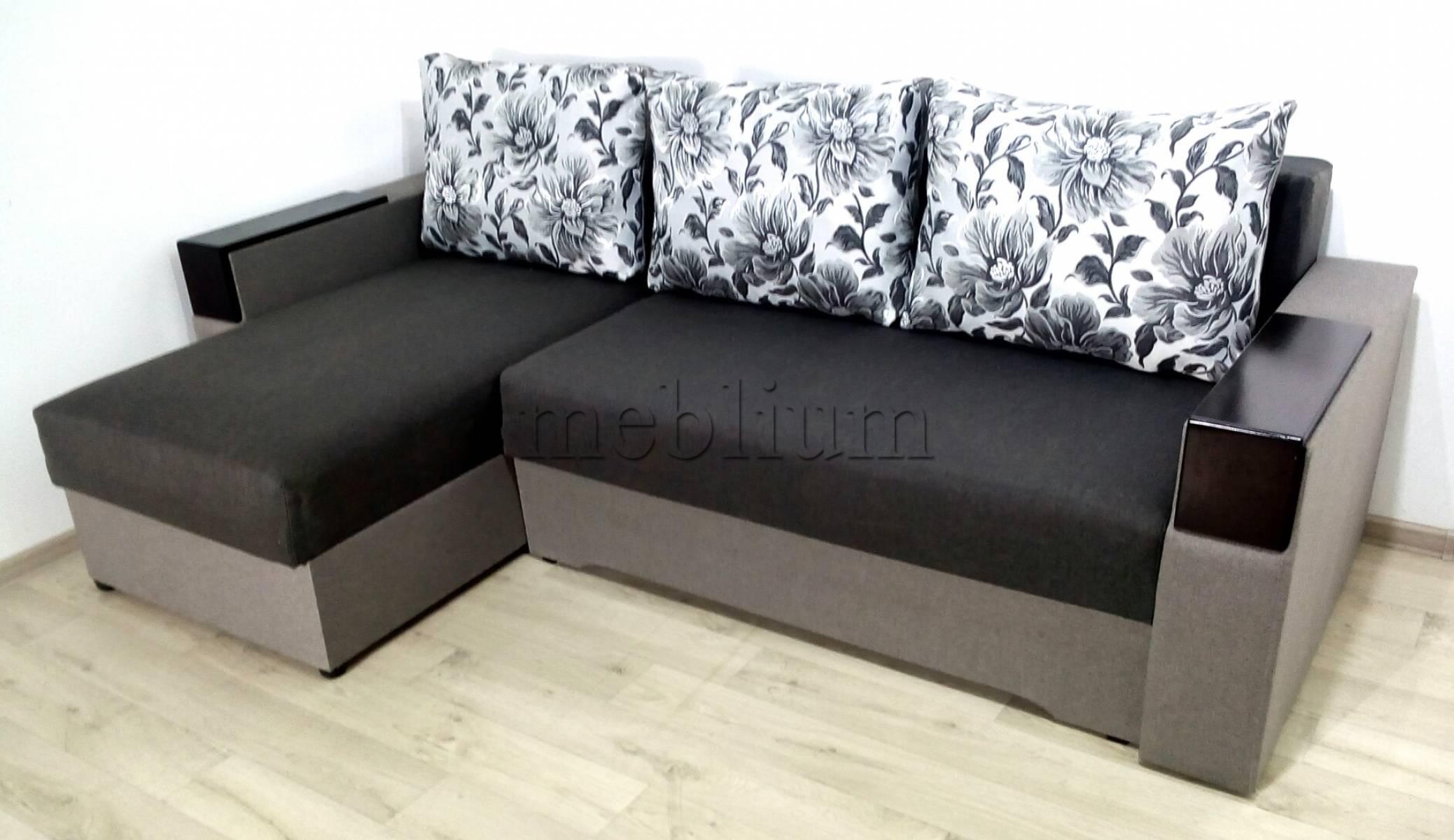 Угловой диван Магнолия универсал -3 Siryj Ткань: Seryj