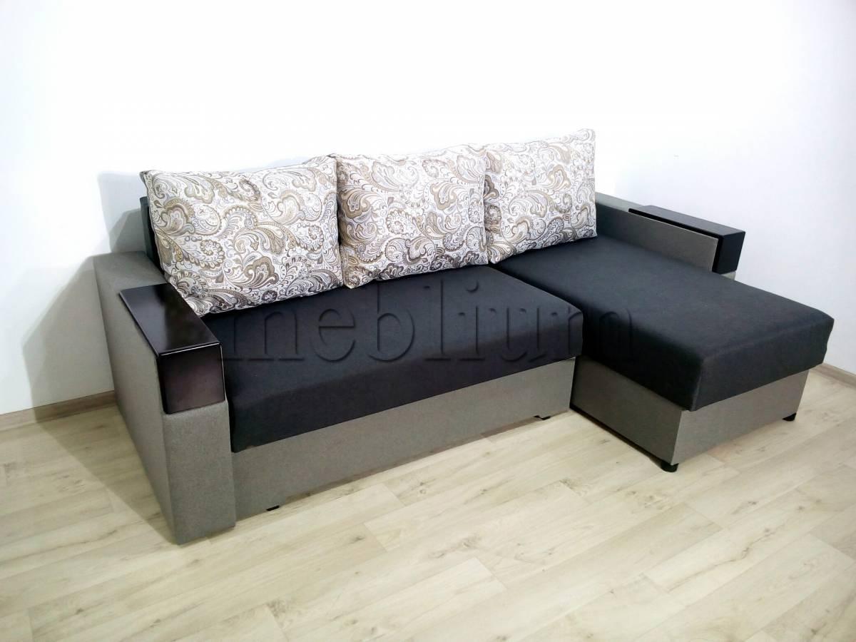 Угловой диван Магнолия универсал -3 Siryj Ткань: Siryj 2