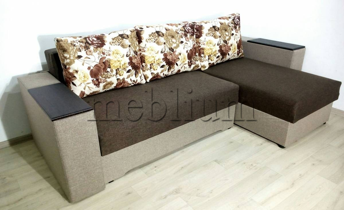 Угловой диван Византия универсал -3 Ткань: Kor_Svetlyj_Bezh