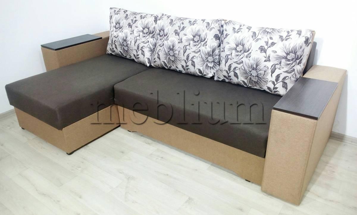 Угловой диван Византия универсал -3 Ткань: Korychnevyj_Behz