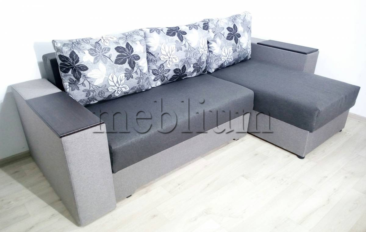 Угловой диван Византия универсал -3 Ткань: Seryj 2